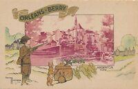 ORLEANS-BERRY – Gaston Marechaux Signed Argenton Indre Postcard – France