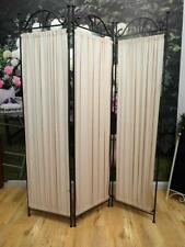 Country HEAVY Twisted IRON & Fabric PRIVACY Screen ROOM Divider QZZQ Adelaide