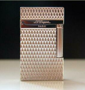 New style S.T Dupont lighter Memorial  Bright Sound silvery lighter