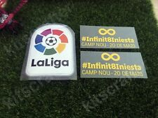 2x Barcelona Infinit 8 Iniesta Match Detail Print #Infinit8Iniesta La Liga 17-18