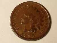 1889 P Indian Head Penny Cent 1c Circulated