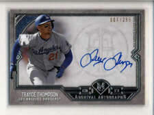 TRAYCE THOMPSON 2017 TOPPS MUSEUM ARCHIVAL AUTOGRAPH AUTO #044/299 AK5193
