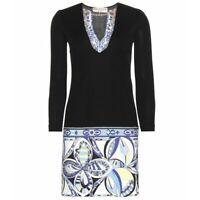 Emilio Pucci Multi-colored Printed Jersey Mini Dress NW0T IT 44, U.S 8, U.K 12