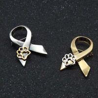 Latest Paw Print Animal Cruelty Awareness Ribbon Brooch Pin Cat Dog Pins Rakish