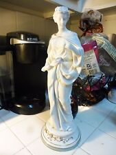 LARGE ANTIQUE CONTINENTAL PORCELAIN FIGURINE OF A NEOCLASSICAL GRECIAN FIGURE