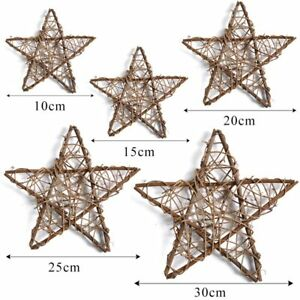 10 CM Five-Pointed Star Shape Rattan Craft Garland Indoor Outdoor Decoration HOT