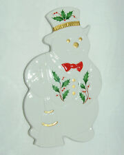 LENOX CHRISTMAS HOLIDAY SNOWMAN CHINA TRIVET & WALL ORNAMENT NIB