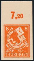 SBZ, MiNr. 96 AX w U, ungezähnt, Oberrand, postfrisch, gepr. Schulz, Mi. 50,-