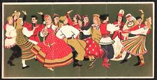 RUSSIA 1957 Matchbox Label - Cat.13aa G mat. Dances of the peoples of the USSR