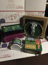 LOT OF GOLF MEMORABILIA-SAVE HUGE $$$$-PLAQUE-GOLF GAME-HALF CUP-BALL TIN-NICE**