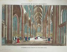 Vue d'optique - Intérieur de l'Eglise de Westminster - XVIIIème siècle