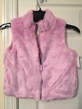 Oshkosh B'gosh FAUX FUR VEST(Zipper and lined) Jacket Girl's Size - 12  PINK NWT