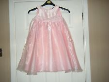 Girls Pink Party/Bridesmaid Sleeveless Dress Age 4-5 from Tu