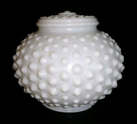 """Vintage HOBNAIL MILK GLASS Dome Globe Ceiling Light Replacement / Fitter 3"""""""