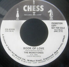 "The Monotones - SOFT SHADOWS / BOOK OF LOVE Promo Vinyl 7"" Single  [1984]"