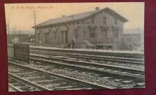 Old Manor PA. PRR Pennsylvania Railroad Depot Station, 4 Tracks ++ Postcard Repo