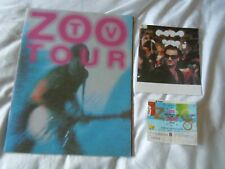 More details for u2 zoo tv tour programme promo leaflet zooropa ticket stub