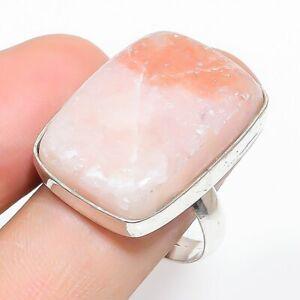 Sunstone Gemstone Handmade Ethnic Jewelry Ring Size 7.5RL-29694