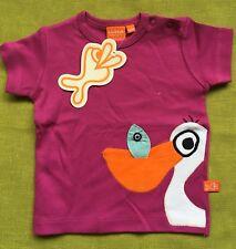 Scandi purple pelican Kids tshirt BNWT By Lipfish s/slv 3 yrs (euro 98)