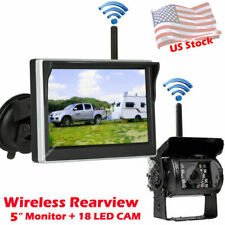 """New listing Wireless Backup Camera with 5"""" Lcd Monitor Kit for Trailer Pickup Truck Caravan"""