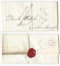 INVERNESS Single Arc Postmark 1851 Entire, Additional Halfpenny