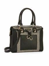 Big Buddha Straw Satchel Purse Bag Medium Sized Handbag - Black