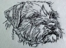 Completed Embroidery Border Terrier Dog