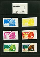 Laos 1975 UPU TRANSPORTATION SPACETrial Color PROOFS Set of 42  Scott 266-266E
