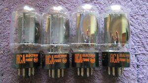 (4) 100% Testing RCA Blackplate 6L6GC Guitar     Audio  Tubes