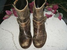 Sendra  Women's Brown Distressed brown Leather short Boots Size 7 M nice!
