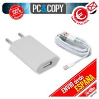 Cargador blanco USB corriente+cable 1A 8 PIN para iphone 5 5S 5C SE 6 6s 7 Plus