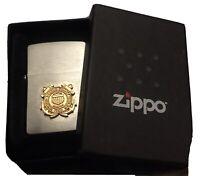 Zippo 2013 Lighter United States Coast Guard USCG ~Brushed Chrome New In Box
