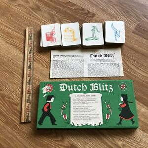 Vintage Dutch Blitz Card Game Used Complete 1973 In Long Box