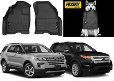 Husky Liners 13761 Black Front Floor Mats for 15-19 Ford Explorer New Free Ship