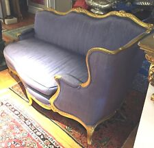 MAGNIFICENT & FINE 19  CENTURY FRENCH CARVED GOLD LEAF DAY BED / LOUNGE CHAIR