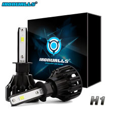 1Pair H1 1620W 243000LM LED Headlight Conversion Kit Bulbs 6000K High Low Beam