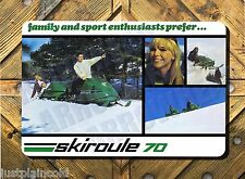 Skiroule vintage snowmobile brochure wall sign