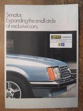 OPEL SENATOR 1978 UK Mkt Sales Brochure