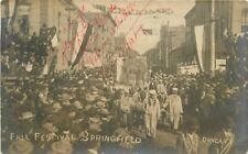 1906 Springfield Missouri Fall Festival Street Duncan Fraternal RPPC Real Photo