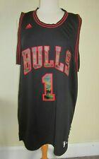 Adidas Team Chicago Bulls 1 Derrick Rose Swingman Jersey 7564A Black Camo F652