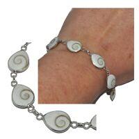 Bracelet en argent massif 925 et oeil de Sainte lucie porte bonheur bijou