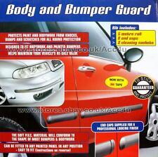 E-Tech Nero Auto Porta Corpo Paraurti Guardia Protettore in gomma stampaggio Striscia + Tappi