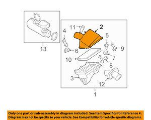 NISSAN OEM Air Cleaner Box Housing-Cover Lid Top 165267S000
