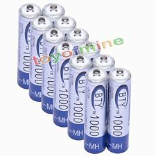 12 AAA BTY Rechargeable Battery 1000mAh Ni-MH 1.2V