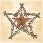 Art Print, Framed or Plaque by Linda Spivey - Barn Star Star Wreath - LS698-R