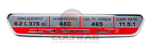 2014-2019 C7 Corvette LT1 With NPP 460 HP Interior Dash Trim Emblem 23138330