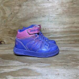 Heelys Fly 2.0 Mid Skate Roller Shoes 770239, Kid Girl's 13C, Purple Pink