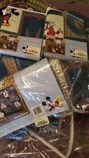 Classic Mickey crib bedding set and window volance
