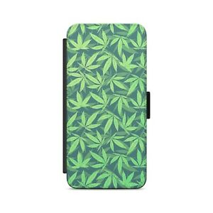 Cannabis Pattern  Flip Wallet Phone Case