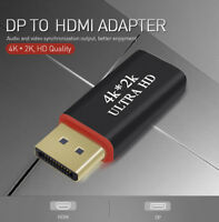4K*2K DP Display Port To HDMI Adapter DisplayPort AV Converter For HDTV Monitor